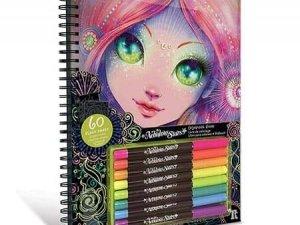 Carte de colorat cu pagini negre Nebulous Stars Black Pages Coloring Book