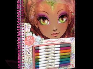 Carte de colorat multicolor Nebulous Stars Calming Coloring Book